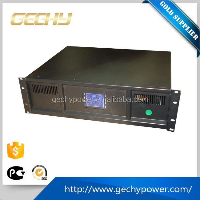 3U 2k/3kva 48v LCD DC to AC pure Sine Wave rack mount Uninterrupted Power Supply UPS