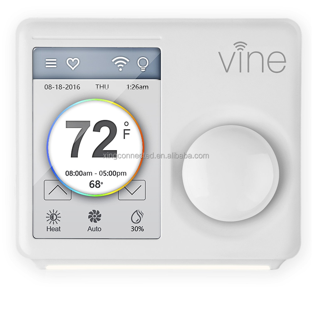 Wireless Touchscreen best house thermostat TJ-610B for home HVAC system