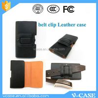 Classical Design Belt Clip Genuine Leather flip phone cover case for nokia lumia 730