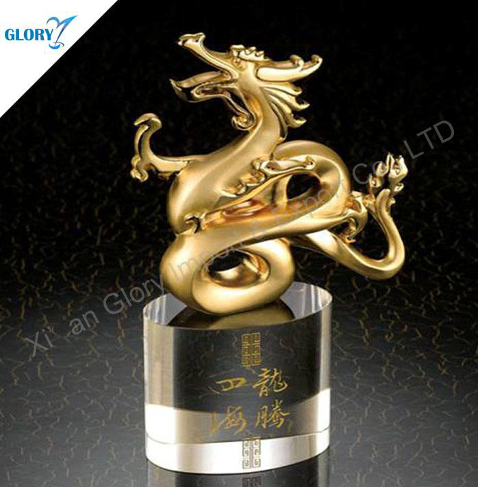 Wholesale Metal Golden Dragon Trophies