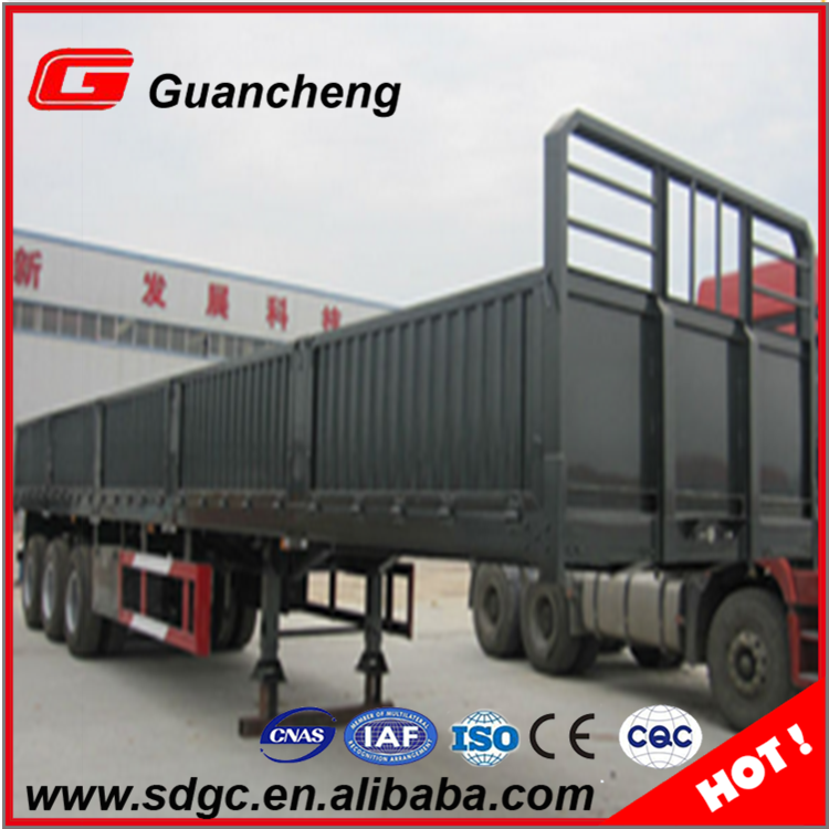 3 axle sidewall cotton trailer sale in Indonesia
