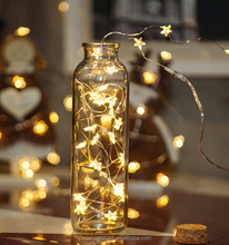 7.5M CE RoHs warm white star decoration USB copper cluster light for party or christmas decoartion