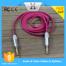 Hot Sale Aux Cable Car 3.5mm to 3.5mm Jack Audio Cable Male to Male 1m Plug Auxiliar Aux Cord For iphone samsung