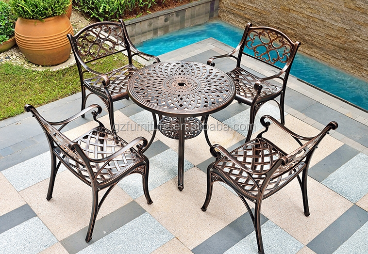 Outdoor 5pcs Cast Aluminum Dining Set made in China