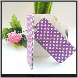 2 in 1 high quality dot removable leather case cover for iphone for galaxy s4 cell phone