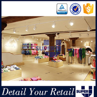 Fashion lovely retail baby clothes store interior design