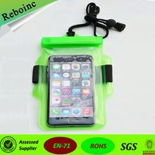 Swimming Drifting Camping Waterproof Bag Velcro Clip Transparent Bag For Iphone 5S Case