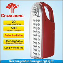 daytime running rechargeable emergency led lamps with charger