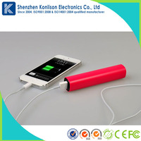 Fashion 2600mah manual for power bank OEM Logo Acceptable for iphone 6,ipad,samsung,smart phone