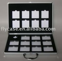 2013 new design China style black stone sample display case with locks and strong handle
