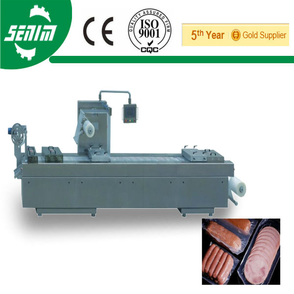 CE Approved 420/520 Automatic Stretch Tray Forming Vacuum Packaging Machinery for seafood
