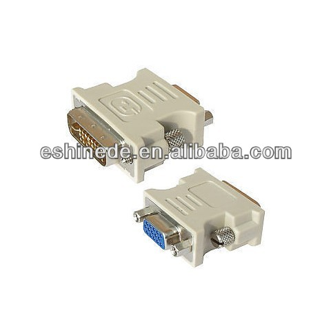 DVI to VGA/SVGA Converter Adapter - DVI-D Dual Link 24+5 pin Male to HD15 Female
