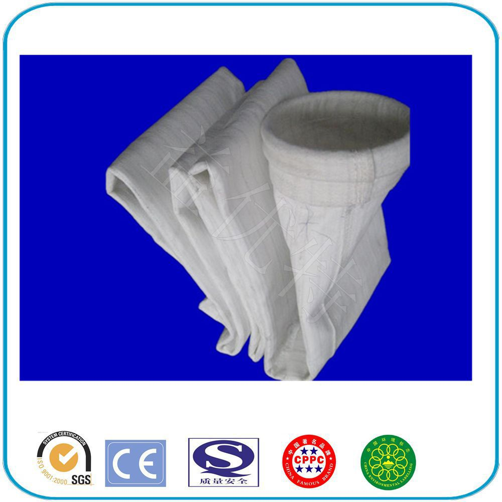 Alibaba China Manufacture non-woven needle punched felt filter bag with high quality