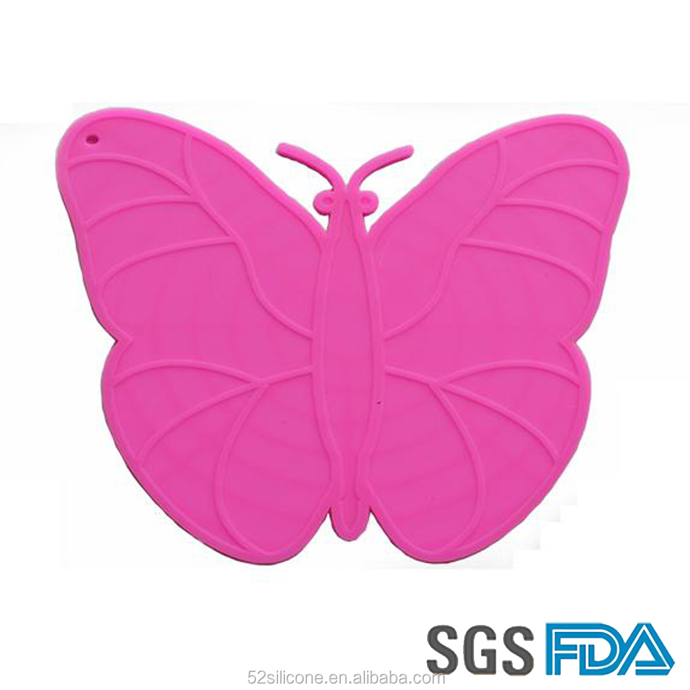 Fashion heat resistant butterfly shape table mat