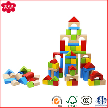 100pcs Factory Selling OEM Colorful Wooden Stacking Game Building Blocks for kids