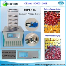 Lyophilisation equipment mini Benchtop vacuum freeze dryer for vegetables and fruit TOPT-10A on sales