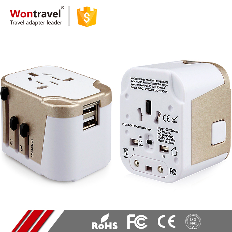 New Products Safety Travel Universal Adaptor Charger Multi-use Usb Ac Power Plug Adapter