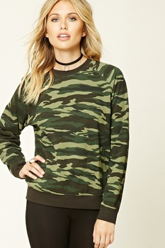 OEM Camo Print Fleece Sweater