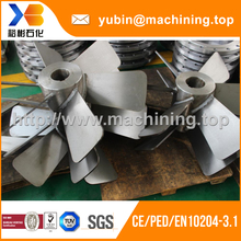 Custom high precision stainless steel boat impeller