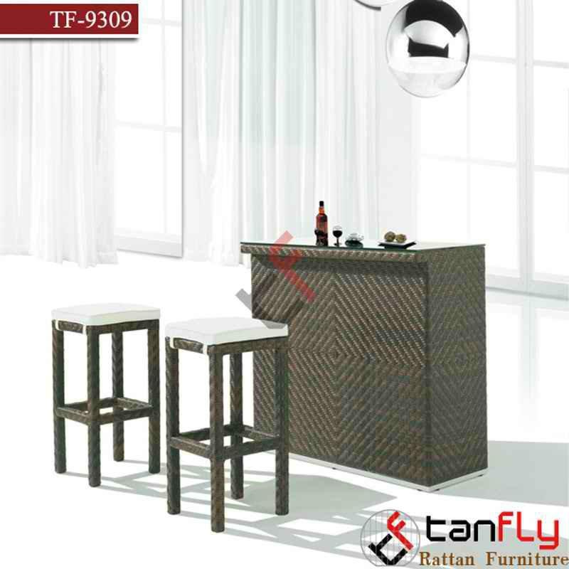 Mimbre rattan bar mesa y silla muebles conjuntos de for Muebles de cana y mimbre