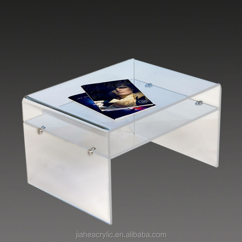 Strong durable clear acrylic tv stand table for house use