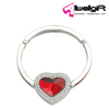 Heart shape ring Luggage handbag metal bag hanger