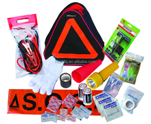 warning sign triangle bag with matching tire repair tools