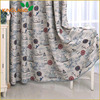 Thermal fabric blackout print curtains design for the living room