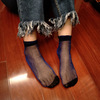 Summer Soft Fashion Women New Ultra-thin Elastic Silky Short Silk Stockings Women Lace Ankle Socks