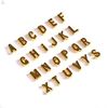 Wholesale Jewelry Fashion Diy Handmade 26 Alloy Alphabet Custom Gold Initial Letter Charm Pendant