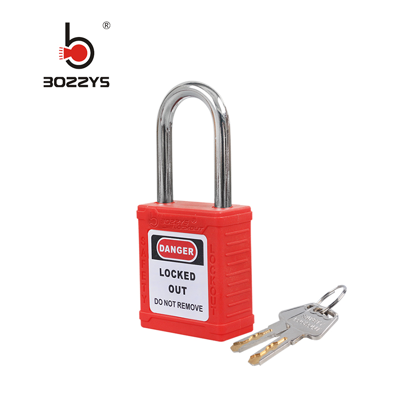 BOSHI OEM 38mm Steel Shackle Plastic Body Safety Padlock