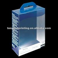 High quality transparent paper box pvc