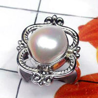 Natural AAA Pearl Handcrafted Designer 925 Sterling Silver Ring