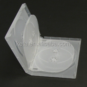 22mm Frosty Clear Case With 2 Trays, Multi 6 Discs DVD Box