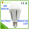 factory OEM aluminum 9w led bulb, e27 5730 smd 9w led bulb light,led bulb lighting with ce rohs