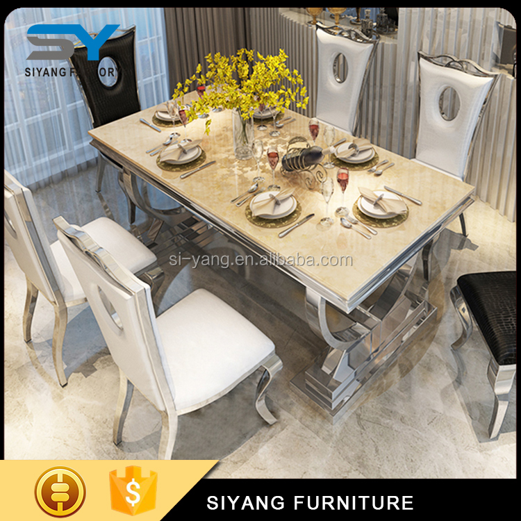 Hot Selling Matte Metallic royal marble dining table better than bamboo tooth stick