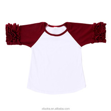 Baby ruffle raglan shirt children clothing unique baby girl names images
