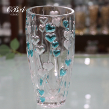 Crystal glass vase large fashion Home Furnishing modern European living Decor floral floral ornaments Wedding Vase