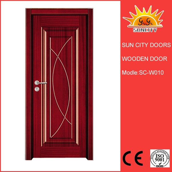 solid wooden door drawing teak wood designer entry door inter wood doors designs SC-W010