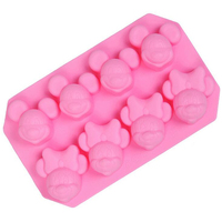 Silicone bakeware 8 even Mickey Mouse shape handmade soap chocolate mold cake mold