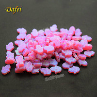 Hot Sale Pink OP10 Hamsa 10x8mm Synthetic Opal For Jewelry