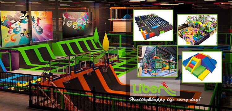 Indoor trampoline park USA project from kids indoor trampoline supplier