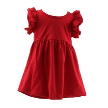 2017 Hot Sale High Quality New Kids Christmas Fancy Old Fashioned Red Dress Girl