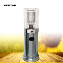 VERTAK Low MOQ BSCI/ CE Stand perfection gas heaters short Patio in SS , outdoor patio heater