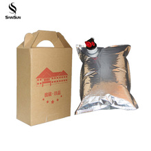 Custom capacity juice or red wine Liquid bib aseptic bag in box