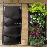Vertical Wall Garden Planter Recycled Wall Mount Balcony Plant Grow Bag for Yards Apartments Balconies Patios
