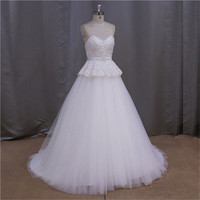 sweetheart neckline embellishments a-line wedding dresses beaded floral motif