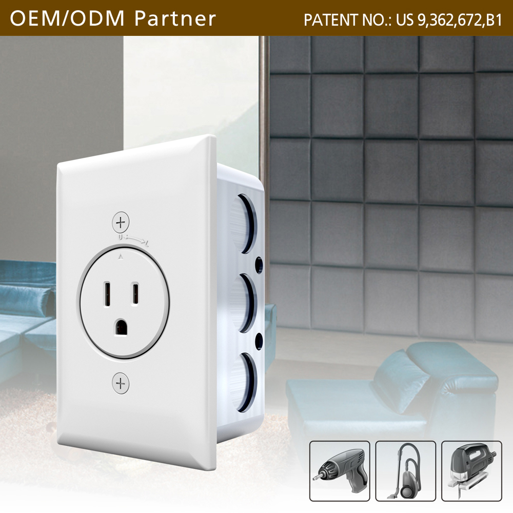 Smart energy saving lockable wall electric outlet plugs for American hardware retail industries