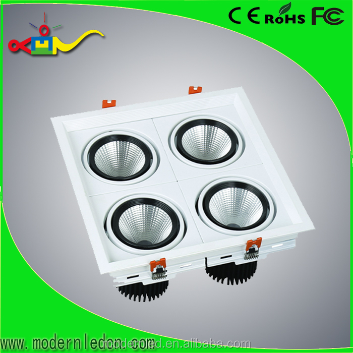 square recessed 4 LED die-casting moving heads LED down light white painting
