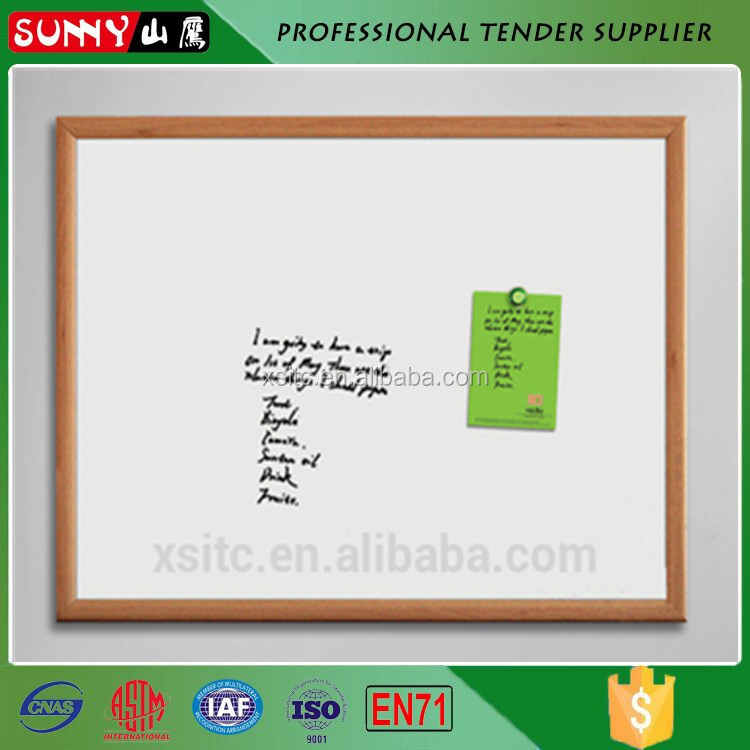 High quality small magnetic whiteboard with wooden frame